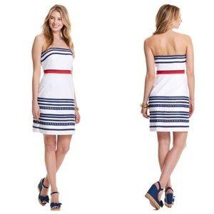Vineyard Vines strapless red white blue Dress 6